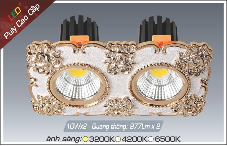 Đèn LED downlight Anfaco AFC Puly 06-10Wx2